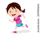 girl running. marathon runner...