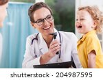 happy little boy after health... | Shutterstock . vector #204987595
