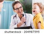 happy little boy after health...   Shutterstock . vector #204987595