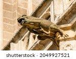 A Frog Shaped Gargoyle On The...