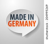 made in germany 3d speech... | Shutterstock . vector #204995269