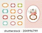 flowers with frames   vector... | Shutterstock .eps vector #204996799