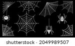 spider web collection isolated... | Shutterstock . vector #2049989507