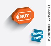 buy sign icon. online buying... | Shutterstock .eps vector #205004485