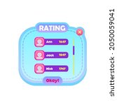game pop up window rating chart ...