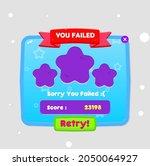 game ui you failed popup window ...