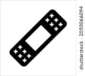 adhesive plaster line and glyph ... | Shutterstock .eps vector #2050066094