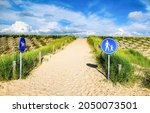 Sandy Trail With Road Signs....