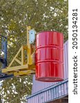 Small photo of Oil Drum Grabber at Forklift Truck Attachment