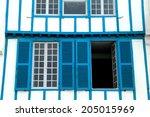 blue windows ciboure france | Shutterstock . vector #205015969