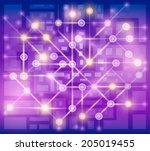 city map for web design and... | Shutterstock .eps vector #205019455