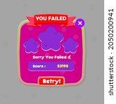 game ui  you failed pop up...
