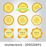 design elements  vector labels. ... | Shutterstock .eps vector #205020691