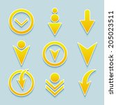 set of vector different arrows