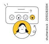 feedback ui element with happy...