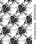 seamless pattern with beautiful ... | Shutterstock .eps vector #205029634
