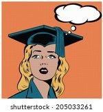 illustration of a girl wearing...   Shutterstock .eps vector #205033261