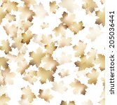 autumn maple leaves pattern... | Shutterstock .eps vector #205036441