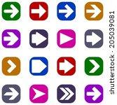 arrow sign | Shutterstock .eps vector #205039081