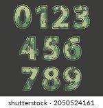 grunge miitary camouflage... | Shutterstock .eps vector #2050524161