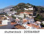panoramic view of frigiliana on ... | Shutterstock . vector #205064869