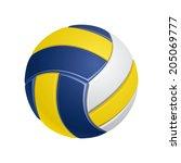 volleyball | Shutterstock .eps vector #205069777