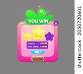 game ui you win strawberry pink ...