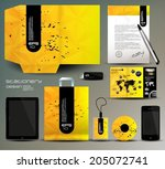 stationery design  identity... | Shutterstock .eps vector #205072741