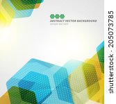 abstract hexagon geometric... | Shutterstock .eps vector #205073785