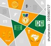 football  soccer infographic | Shutterstock . vector #205080727