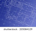 architectural background.... | Shutterstock .eps vector #205084129