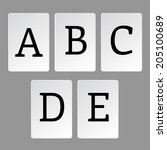 alphabet  letters a z | Shutterstock .eps vector #205100689