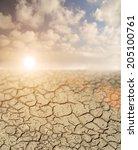 desertification   sun  ... | Shutterstock . vector #205100761