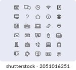 icon set contacts for website...
