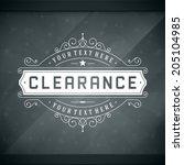 window advertising decals... | Shutterstock .eps vector #205104985