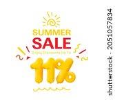 special offer sale 11  discount ... | Shutterstock . vector #2051057834