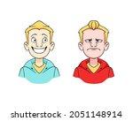 joyful and angry cartoon... | Shutterstock .eps vector #2051148914