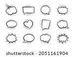 comic cloud vector icon  white...   Shutterstock .eps vector #2051161904