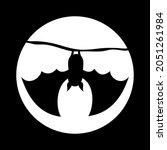halloween bat is hanging upside ... | Shutterstock .eps vector #2051261984