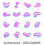 liquid hologram shapes....   Shutterstock .eps vector #2051264054