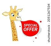 cute hand drawn giraffe... | Shutterstock .eps vector #2051267534