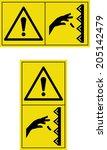 warning hand injuries | Shutterstock .eps vector #205142479