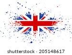 grunge british ink splattered...   Shutterstock . vector #205148617