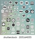 mega set of retro vintage... | Shutterstock .eps vector #205164055