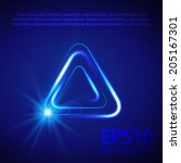 blue triangle light effect.... | Shutterstock .eps vector #205167301