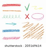 set of hand drawn elements ...   Shutterstock .eps vector #205169614