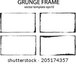 abstract grunge frame set | Shutterstock .eps vector #205174357