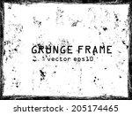 grunge frame. vector template | Shutterstock .eps vector #205174465