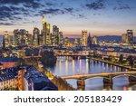 frankfurt am main  germany... | Shutterstock . vector #205183429
