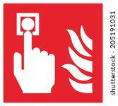 fire safety sign fire alarm... | Shutterstock .eps vector #205191031